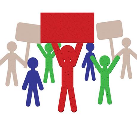 Políticas y pancartas